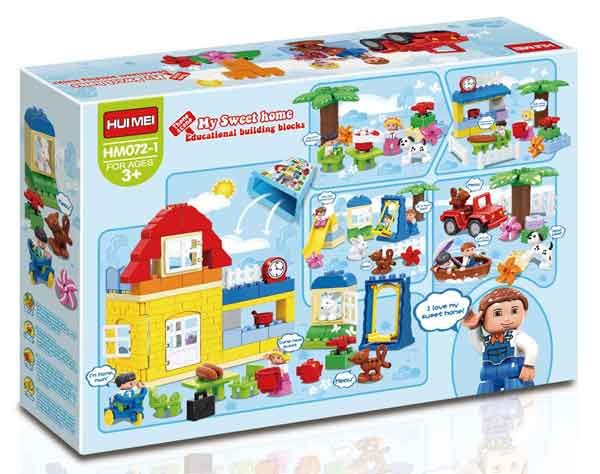 Casita Dulce Hogar HuiMei compatible con Lego Duplo - Tec-Toys