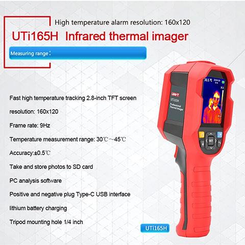 Cámara Térmica Infrarroja Portátil UNI-T UTi165H IR