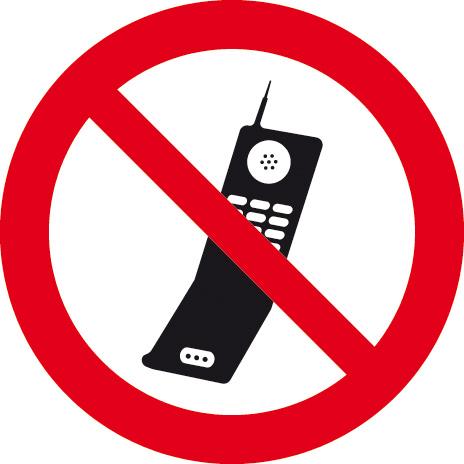 Téléphone portable interdit