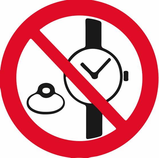 Montres et bijoux interdits