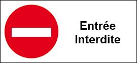 Entrée interdite