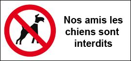 Nos amis les chiens sont interdits