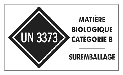 Matière biologique catégorie B - Suremballage