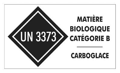 Matière biologique catégorie B - Carboglace