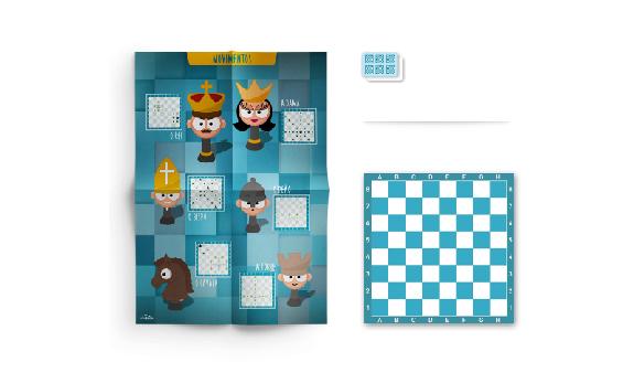 O meu primeiro kit de xadrez