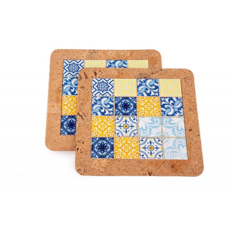 Base With Blue / Yellow Tile (2 uni)