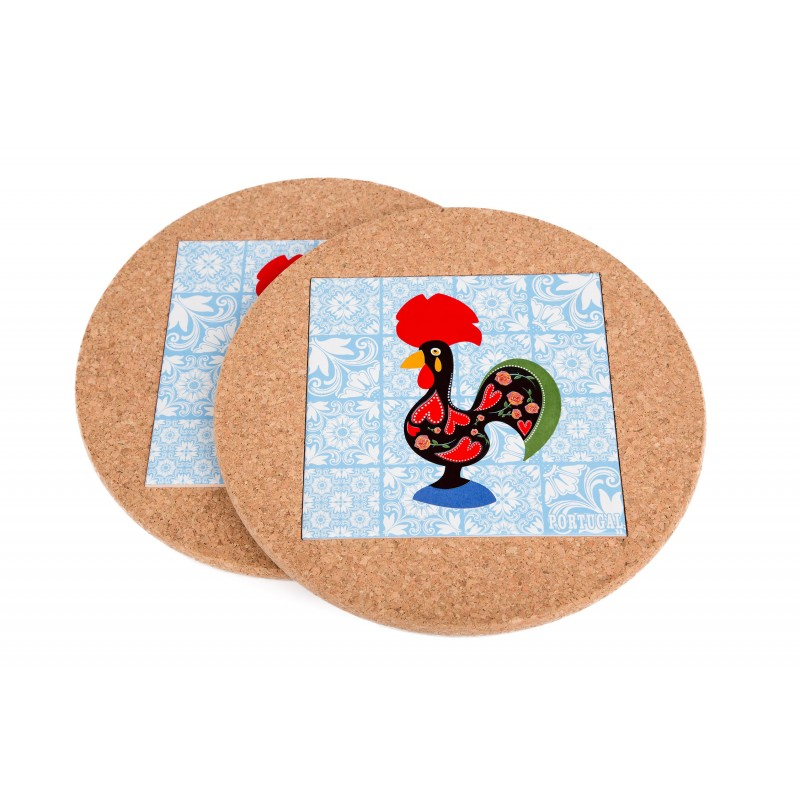 Round With Rooster Tile (2 uni)