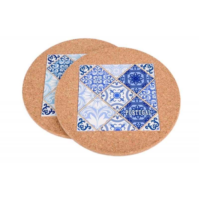 Redonda C/Azulejo Azul (2 uni)