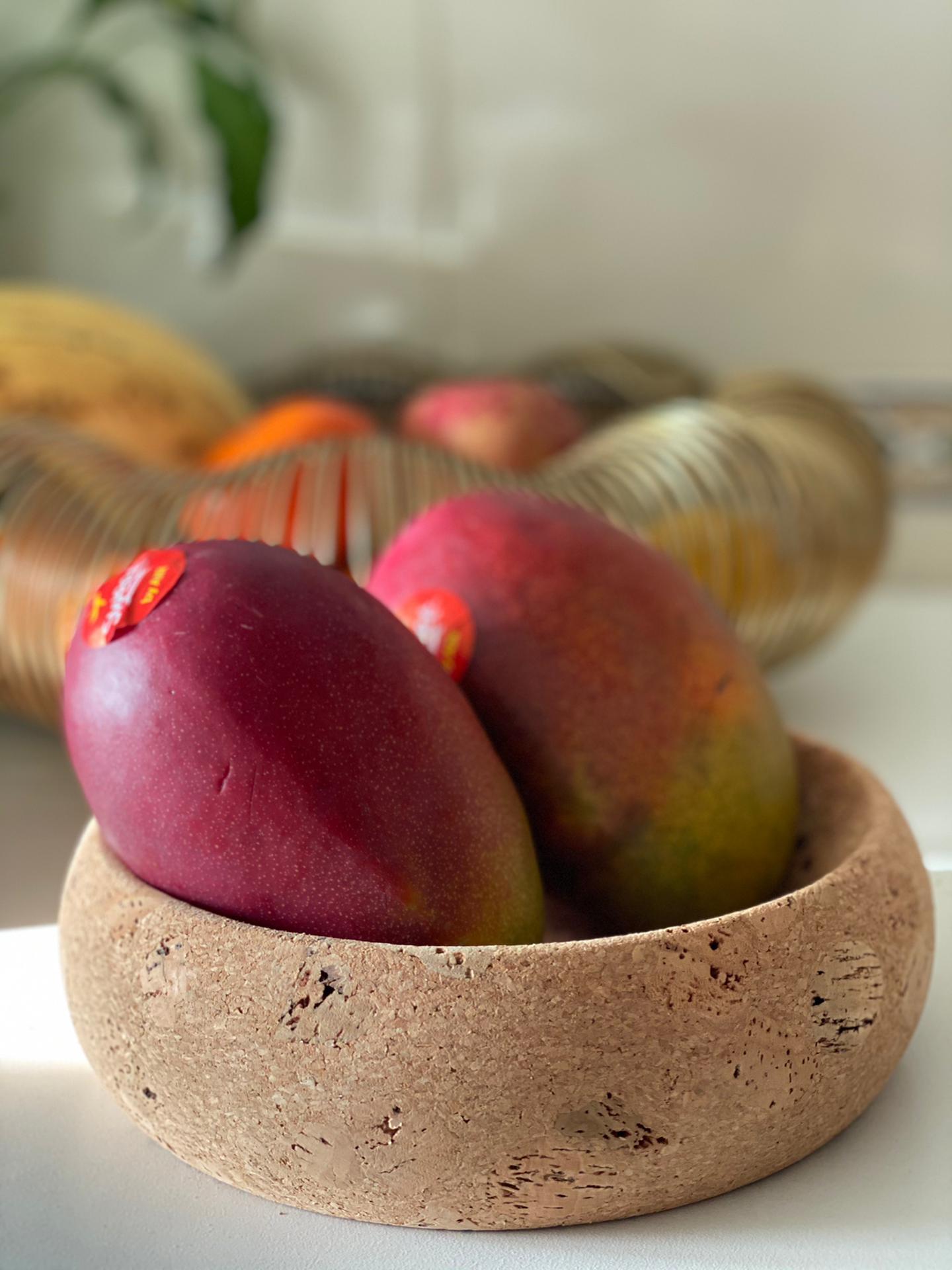 Fruttiera piccola in sughero naturale