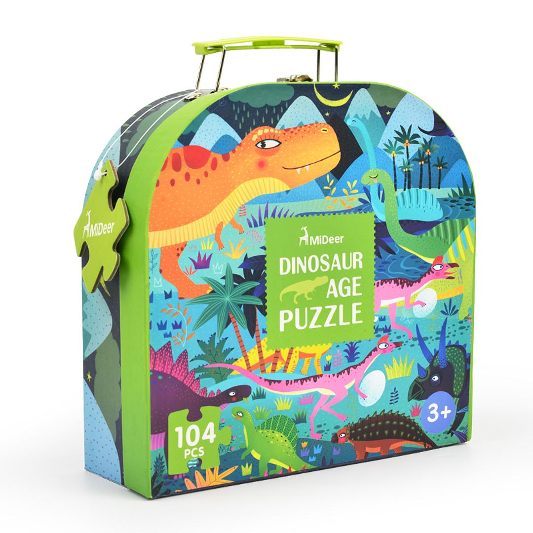 Puzzle Dinosaurios 104 Piezas con maleta
