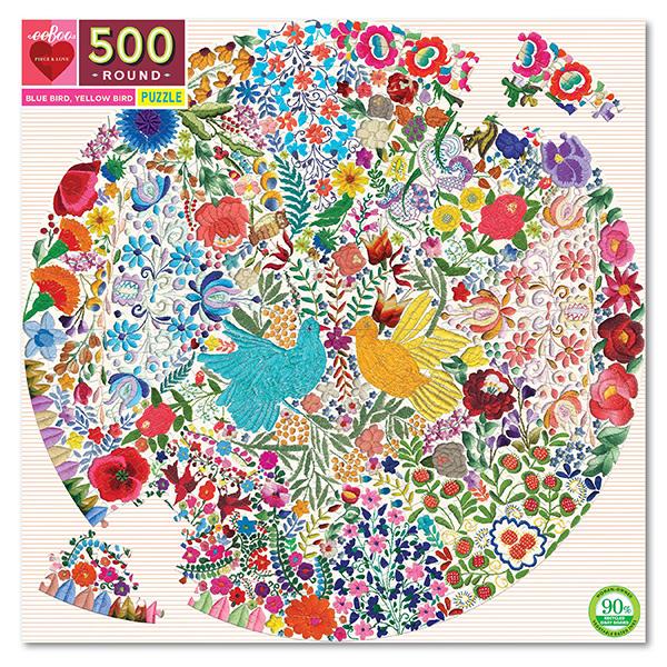 Puzzle redondo Blue Bird, Yellow Bird 500 piezas