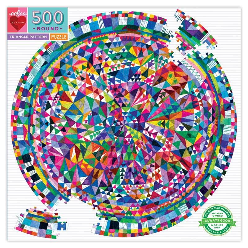 Puzzle redondo Triangle Pattern 500 piezas