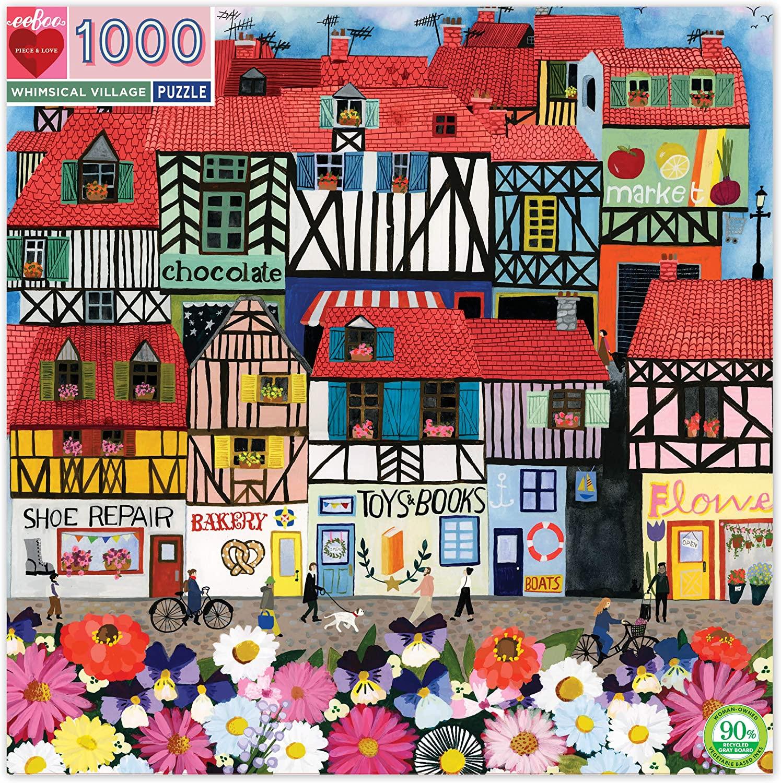 Puzzle Whimsical Village 1.000 piezas