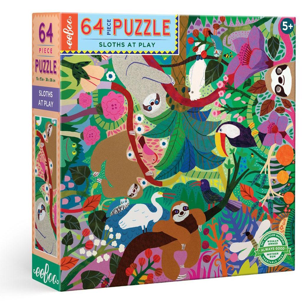 Puzzle infantil Osos Perezosos 64 piezas