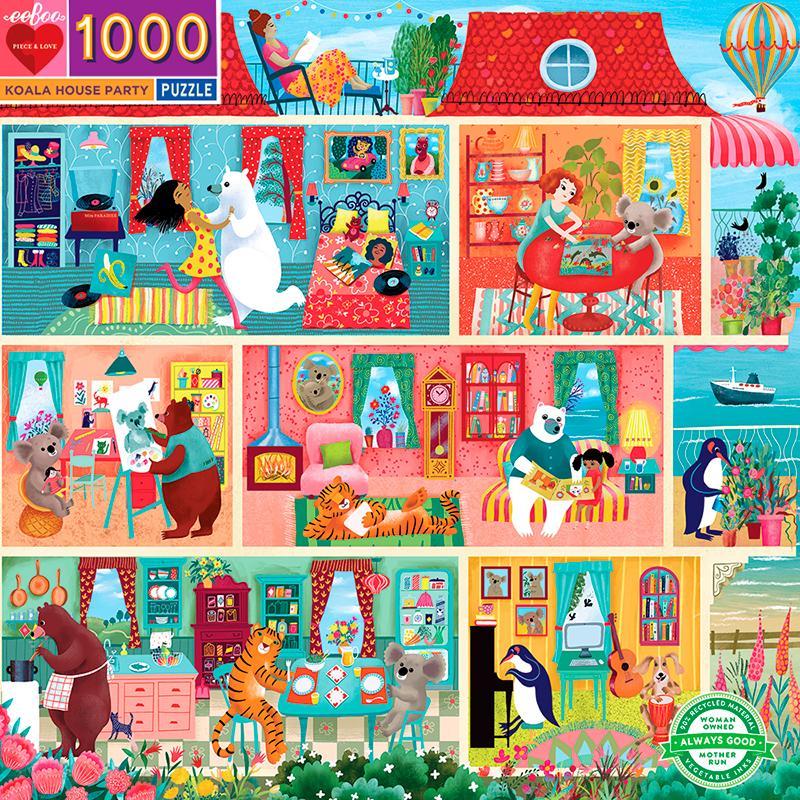 Puzzle Koala House Party 1.000 piezas