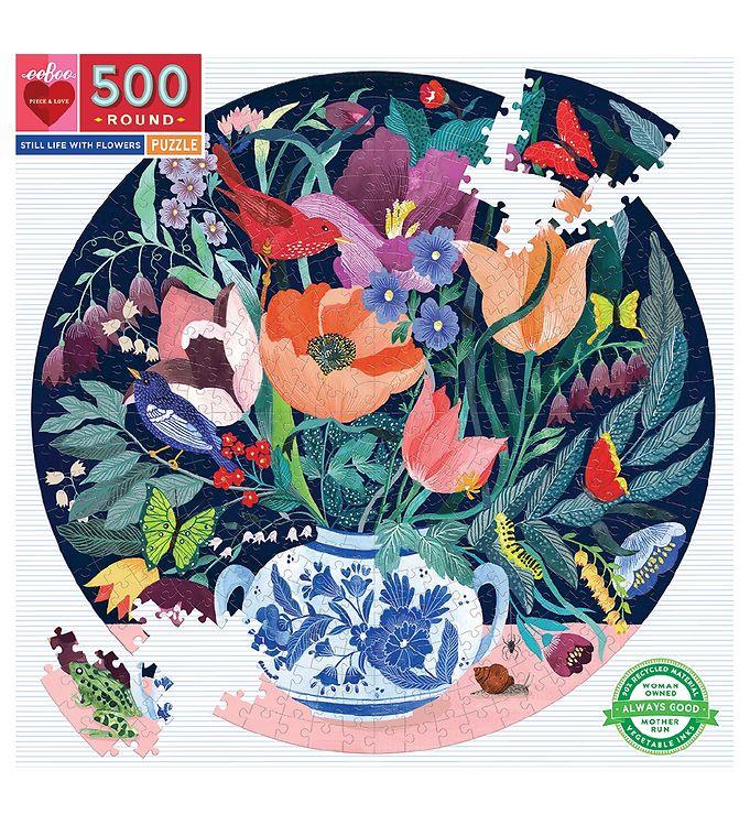 Puzzle redondo Still Life with Flowers 500 piezas