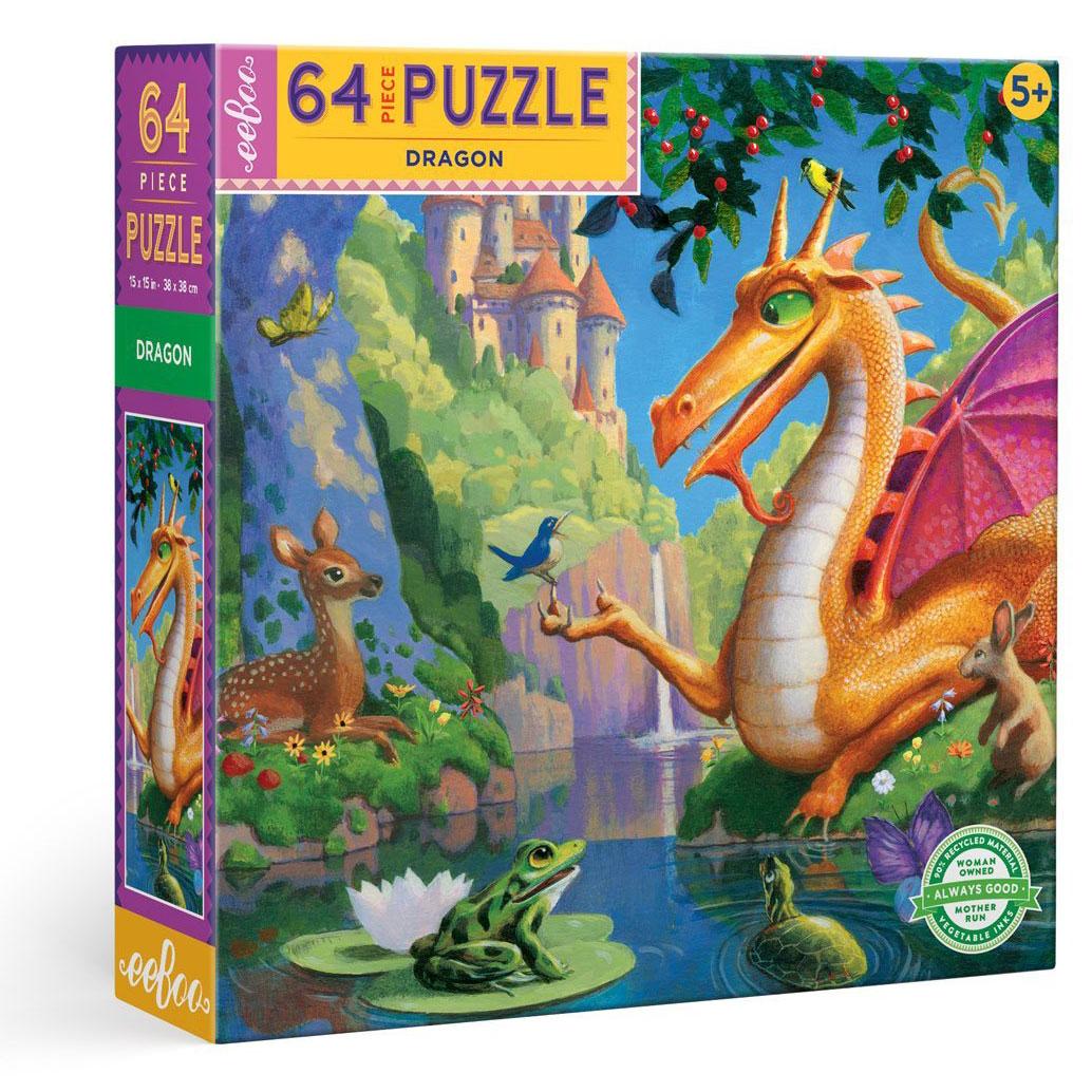 Puzzle infantil Dragon 64 piezas