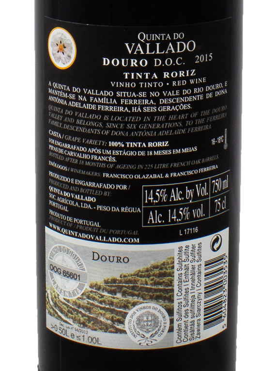 Quinta do Vallado Tinta Roriz 2015