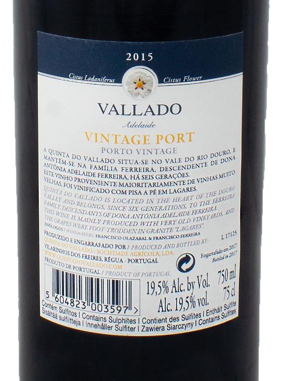 Quinta do Vallado Adelaide Vintage Port 2015