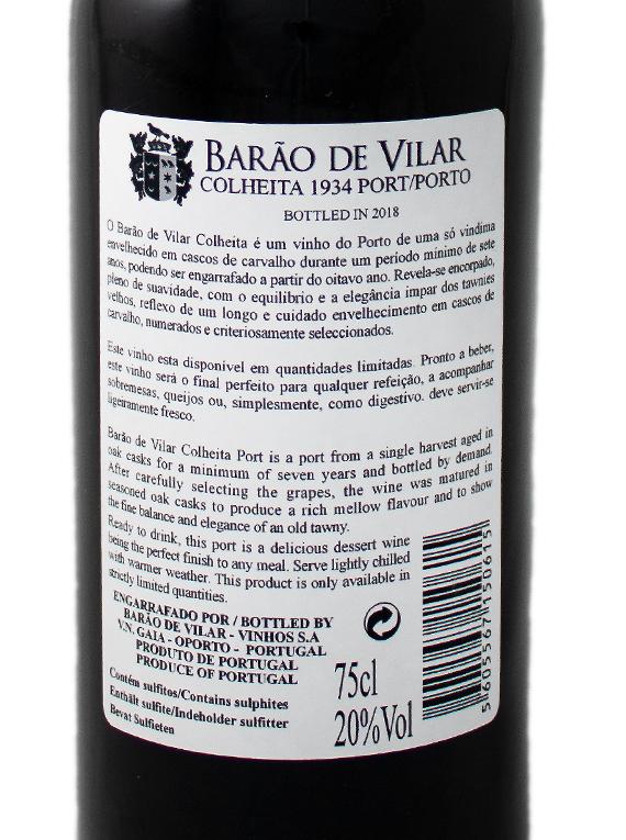 Barão de Vilar Colheita 1934