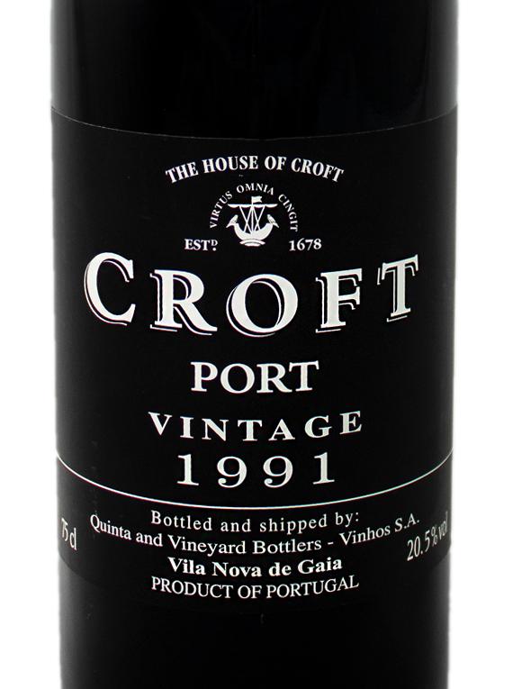 Croft Vintage Port 1991