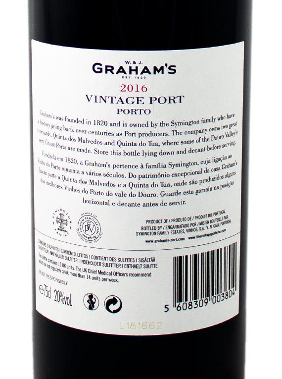 Graham's Stone Terraces 2016 Vintage Port