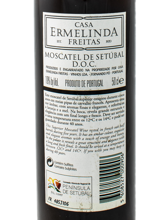 Casa Ermelinda Freitas Moscatel de Setúbal Superior 2000