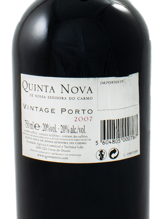 Quinta Nova NS Carmo Vintage Port 2007
