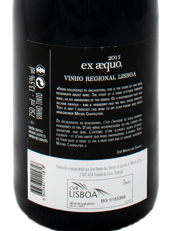 Quinta do Monte d'Oiro Ex Aequo 2015