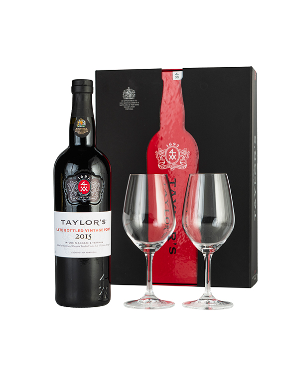 Taylor's Late Bottled Vintage Port 2014 e Copos