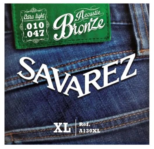 Encordado Acústica Savarez A130xl Bronze Extra Light 10/47