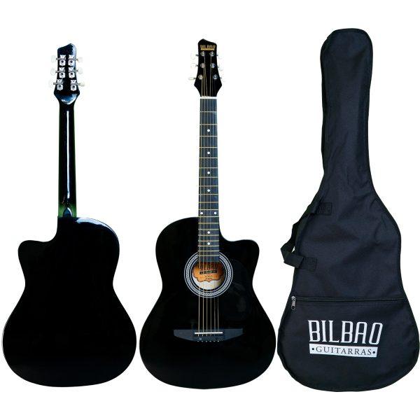 Guitarra Acústica Bilbao cuerda metálica BIL-38C-BK