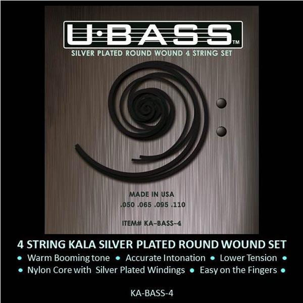 Encordado Ubass Silver Round Wound 4 cuerdas set