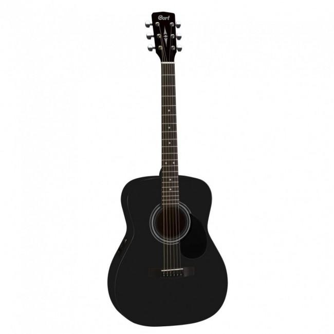 Guitarra Electroacústica Black Satin CORT AF510E-BKS