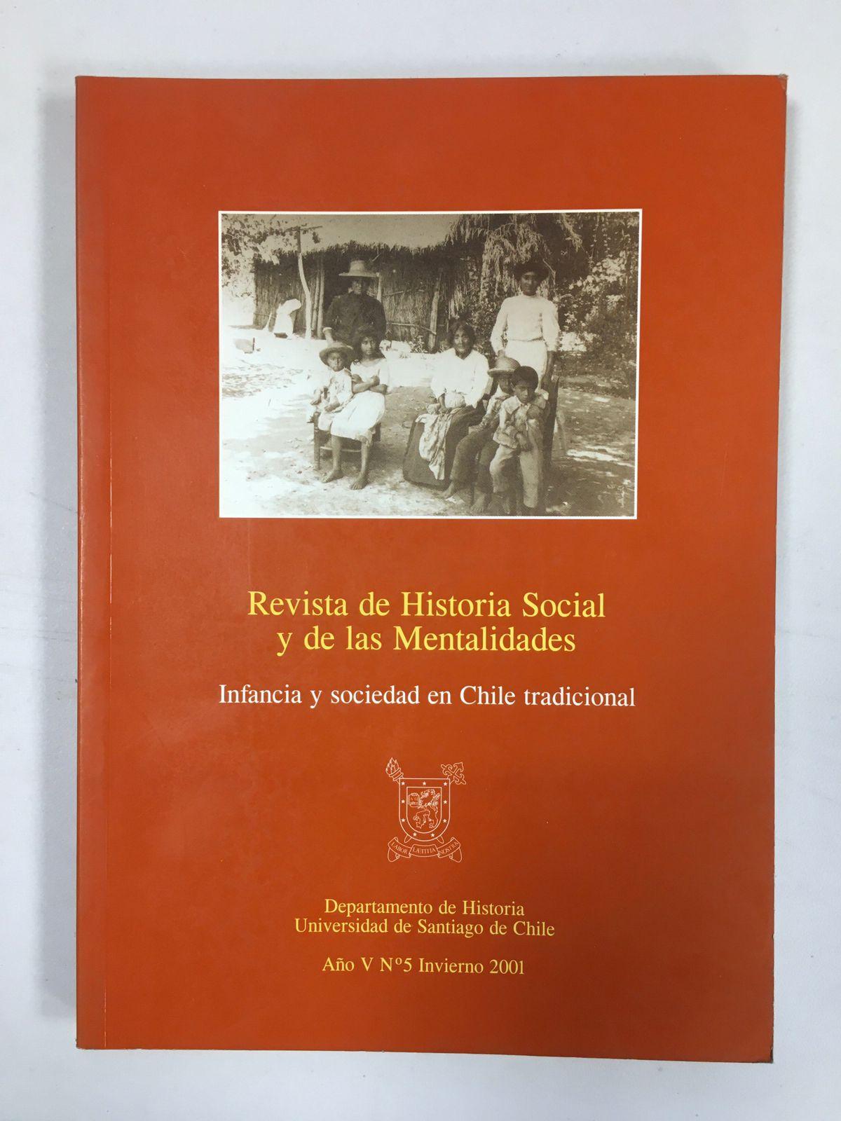 Revista de Historia Social y de las Mentalidades. Año V nº5 invierno 2001