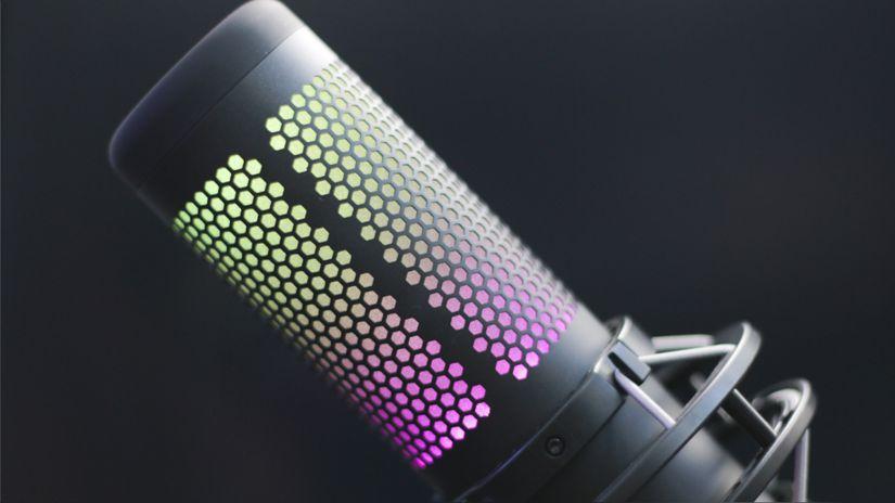 MICROFONO QUADCAST PROFESIONAL S RGB - HYPERX