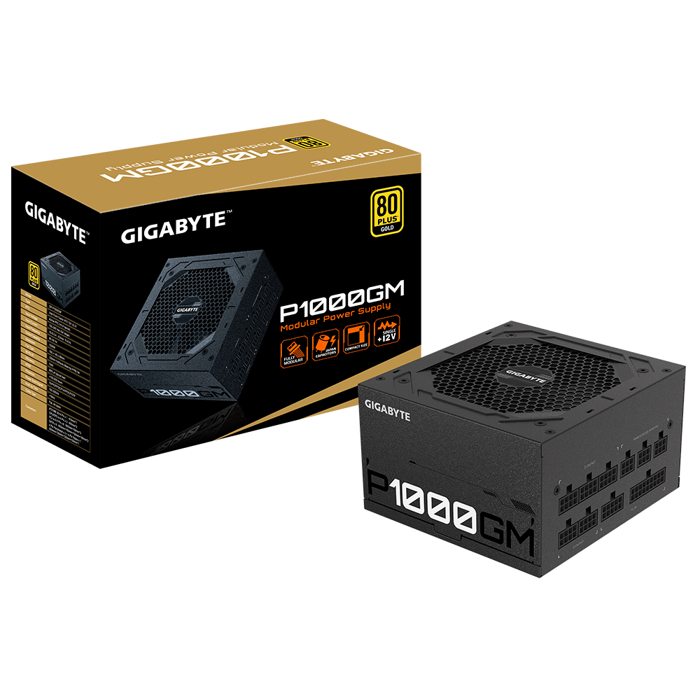 FUENTE REAL 1000W 80P GOLD - GIGABYTE