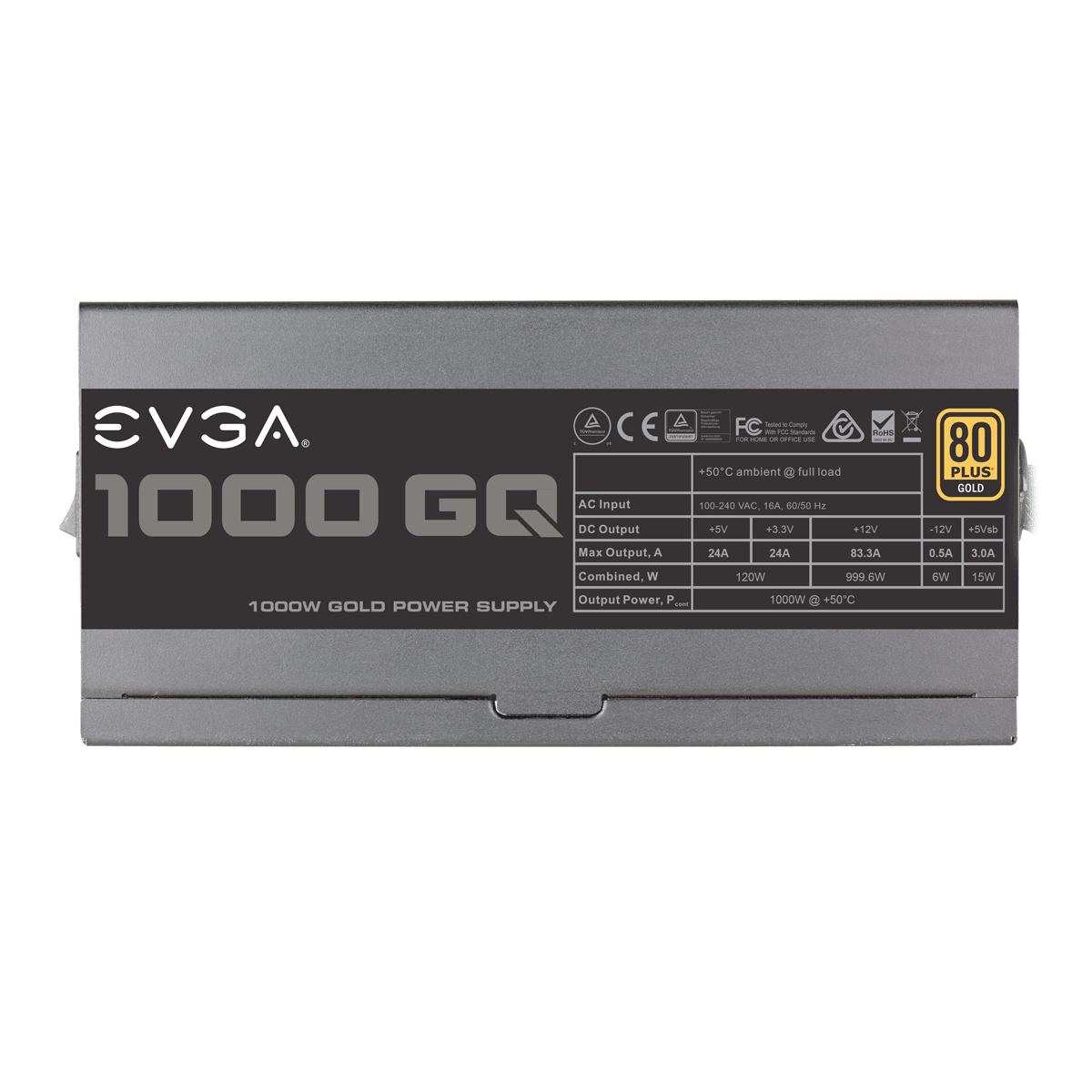 FUENTE REAL 1000W 80P GOLD GQ S. MODULAR- EVGA