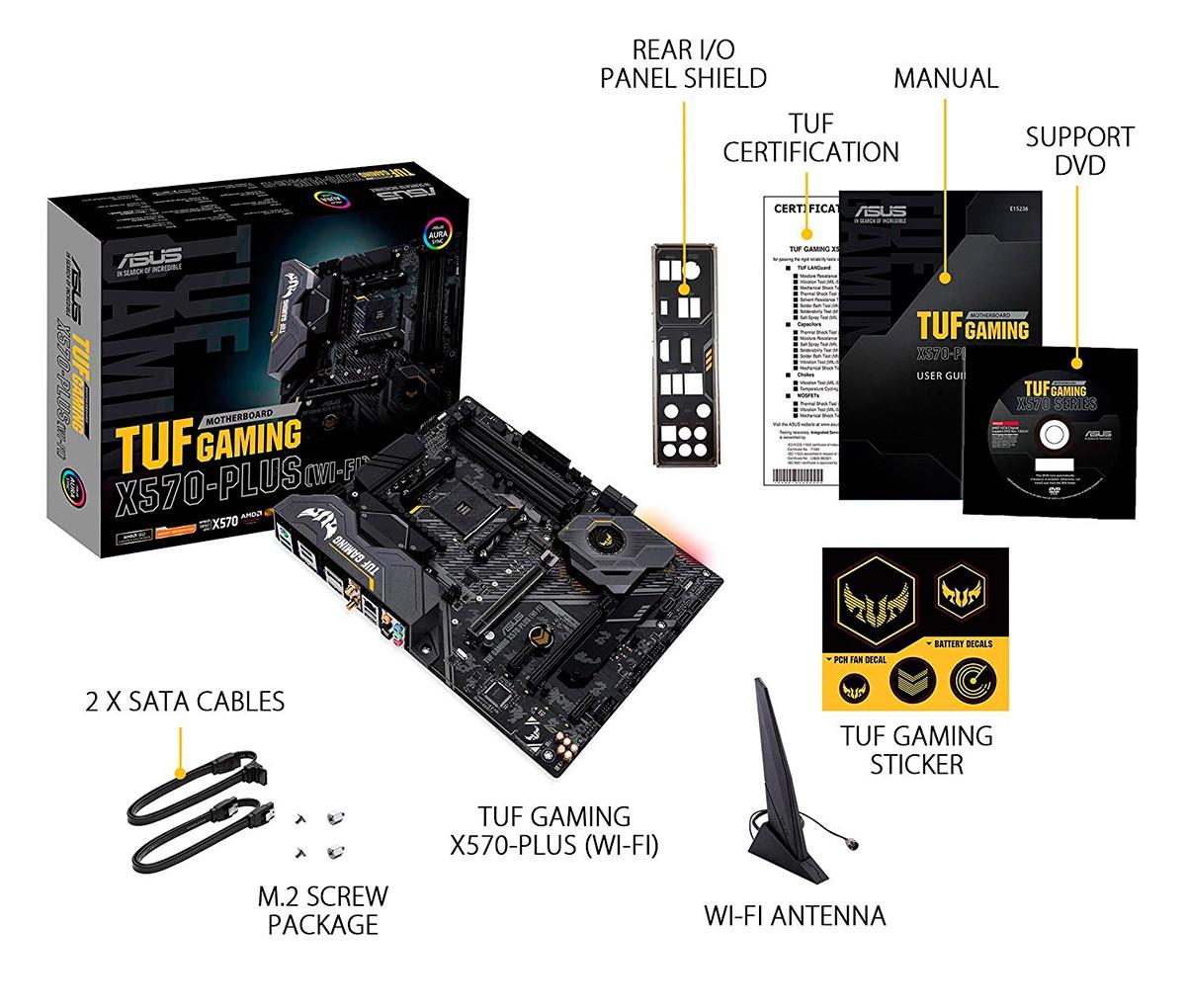 X570 TUF GAMING PLUS WIFI - ASUS / AMD RYZEN