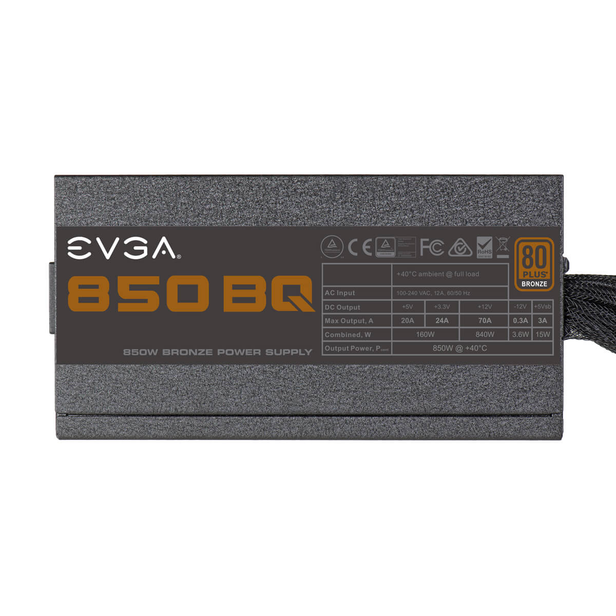 FUENTE REAL 850W BRONCE SEMI MODULAR - EVGA