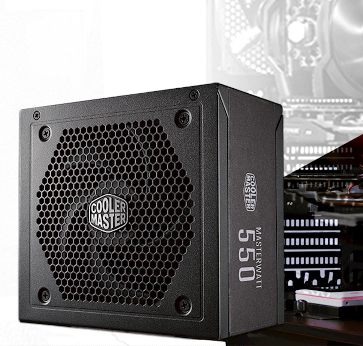 FUENTE REAL 550W  80P WHITE - COOLER MASTER