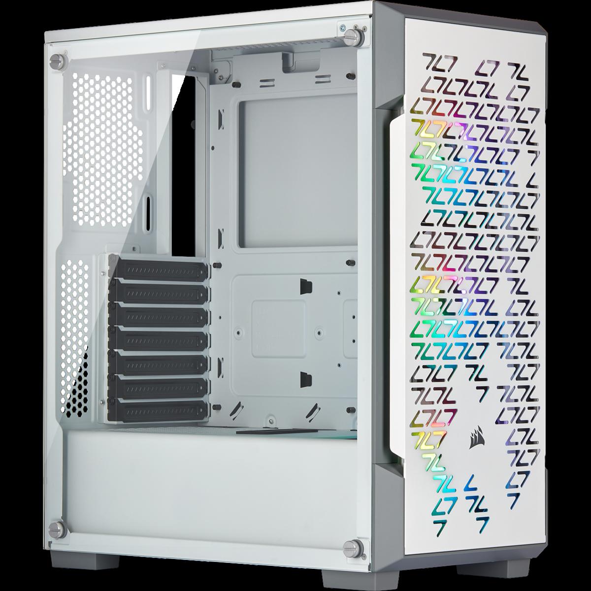 ICUE 220T AIRFLOW - WHITER + 3 FANS RGB - CORSAIR