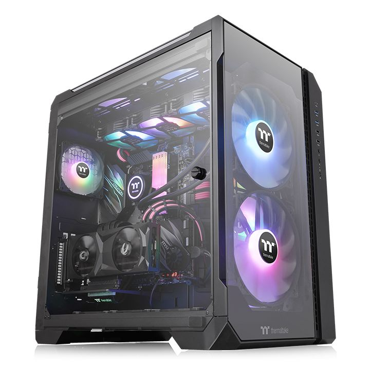 VIEW 51 BLACK + 3 FANS ARGB  - THERMALTAKE