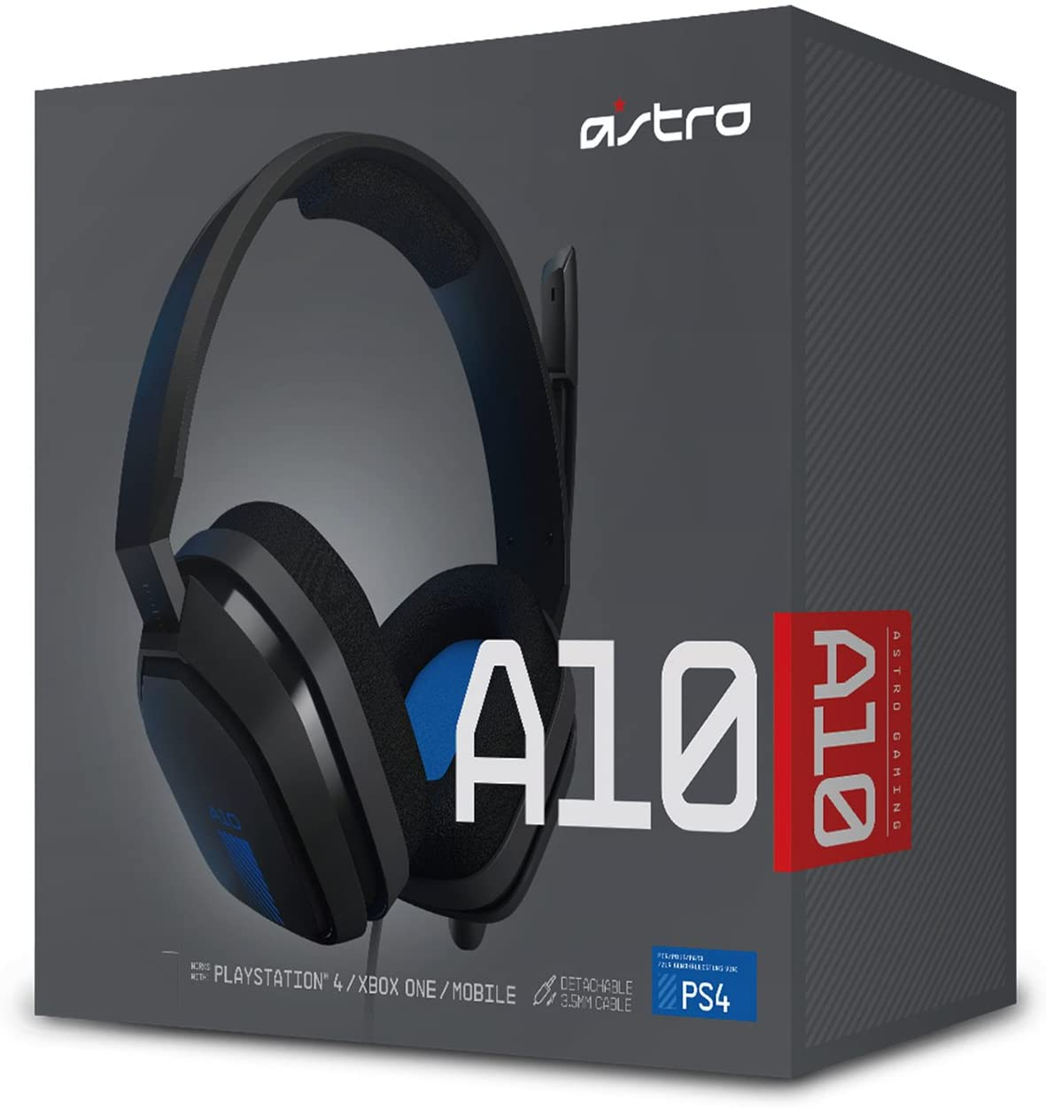 ASTRO A10 NEGRO AZUL / MULTIPLAY PC Y PS4