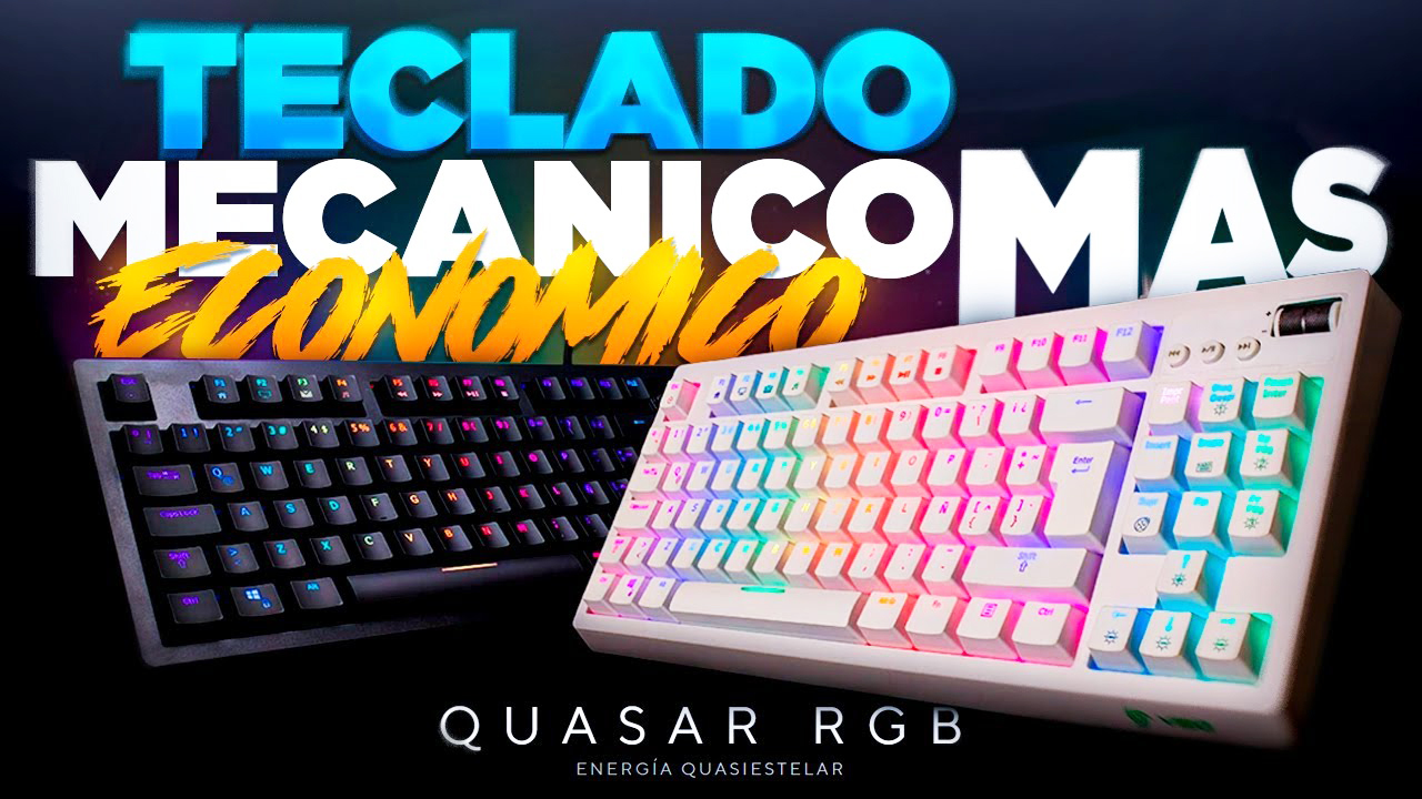 TECLADO MECANICO QUASAR RGB - BLACK / WHITE