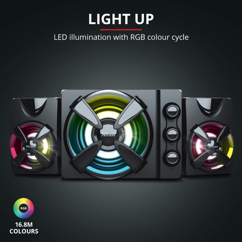 SUPER SONIDO GAMER RGB + SUBWOOFER RGB - GXT