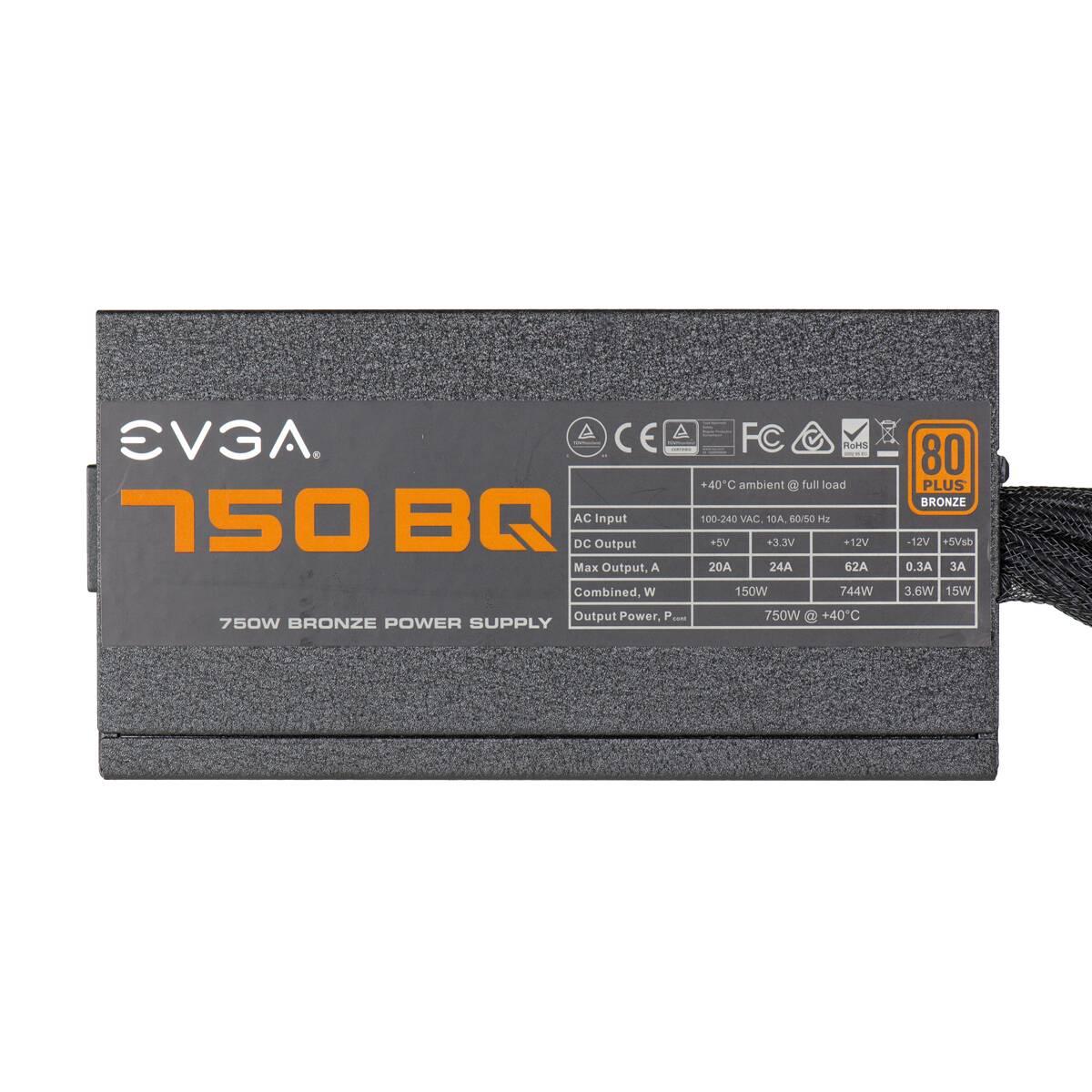 FUENTE REAL 750W 80P BRONZE MODULAR- EVGA
