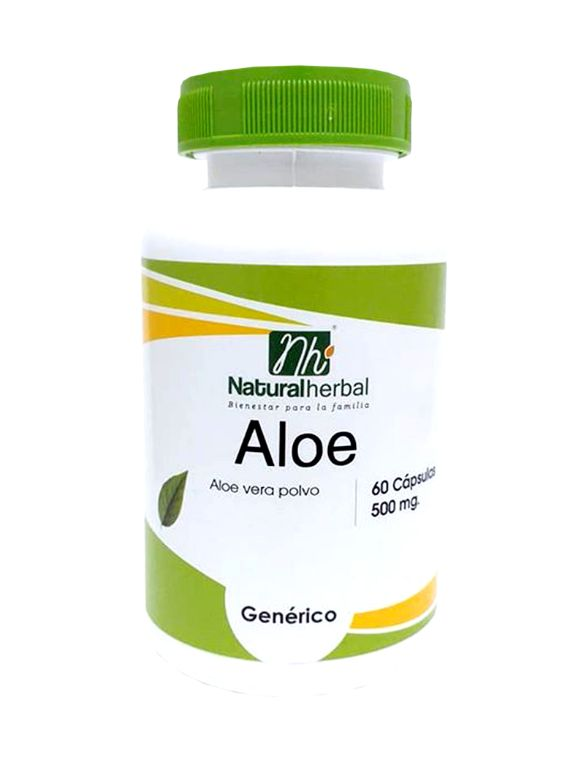 Aloe  - 60 Cápsulas 500 mg.