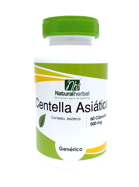 Centella Asiática - 60 Cápsulas 500 mg.