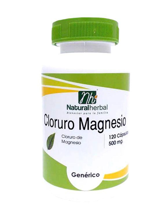 Cloruro de Magnesio - 120 Cápsulas 500 mg